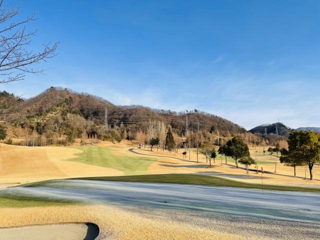 冬のゴルフ